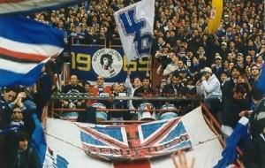 Gli Ultras Tito Cucchiaroni in Gradinata Sud